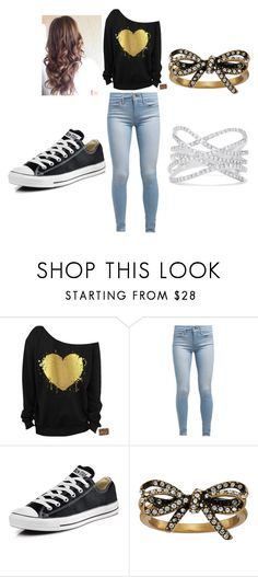 """""""Black Nd Gold"""" by jamelicawooten39 ❤ liked on Polyvore featuring Levi's, Converse, Marc Jacobs and Effy Jewelry"""
