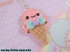 Fairy Kei Lolita Pastel Ice Cream Cone by NerdyLittleSecrets, $10.00