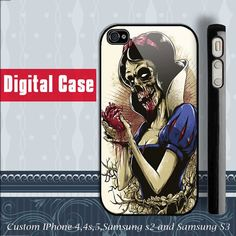 Snow White Zombie iphone 4 case iphone 5 case by DIGITALCASE, $15.99