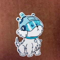 Rick and Morty Pet Dog Snuffles/Snowball Die-Cut by DosTorres