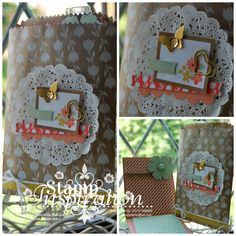 Mini Easel Notepad with Gift Bag using all Stampin' Up! products.  Kerry Timms UK Demonstrator, visit my blog to join, shop and be inspired!