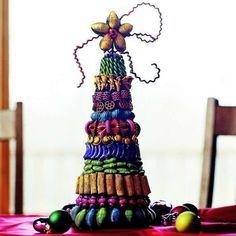 Alberi di Natale originali - Albero di pasta colorata