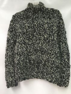 Ralph Lauren Polo Womens Sweater Hand Knit 100% Wool Black White Size Large | Clothing, Shoes & Accessories, Women's Clothing, Sweaters | eBay!