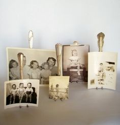 How cute!   I've seen a lot of different uses for old forks but this is the first time for photo holders