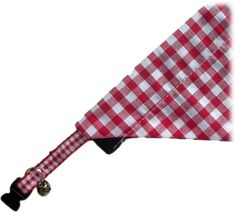 Red And White Gingham Bandana And Collar Set Slip Over, Pet Accessories, Grosgrain Ribbon, Small Dogs, Printed Cotton, Bandana, Gingham, Your Pet, Red And White