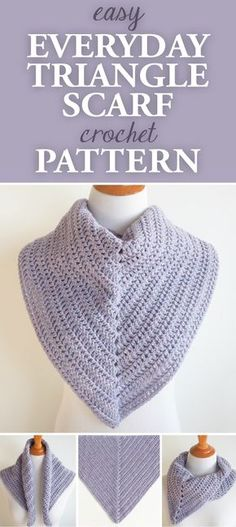 This scarf is very lightweight and can be worn with the point either in front or the in the back to add variation to the look. #crochet #crocheting #crochetlove #crochetlife #crochetaddict #crochê #croche #bhooked #happycrochet #addictedtocrochet #crochetpattern #crochetscarf
