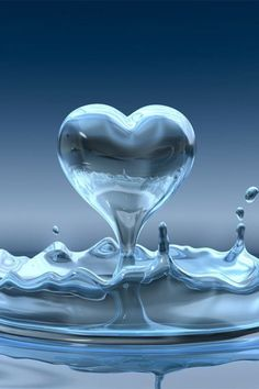 Heart drop out of water