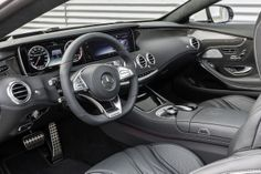 Mercedes-Benz S 63 AMG Coupé (C 217) 2014, exclusive nappa leather AMG black, AMG carbon-fibre / black piano lacquer trim, interior