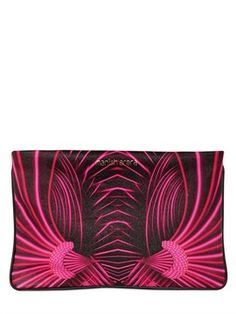 Printed Leather Large Pouch on shopstyle.com