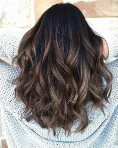 Long Wavy Ash-Brown Balayage - 20 Light Brown Hair Color Ideas for Your New Look - The Trending Hairstyle Brown Hair Balayage, Balayage Brunette, Hair Color Balayage, Brunette Hair, Hair Highlights, Black Hair With Highlights, Brunette With Caramel Highlights, Dark Balayage, Long Brunette