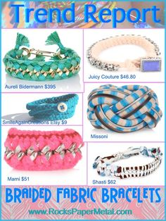 fabric braided bracelets trend report