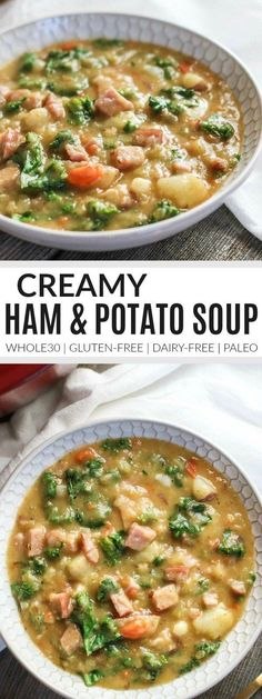 Creamy Ham and Potato Soup | Whole30 soup recipes | Whole30 dinner recipes | Whole30 fall recipes | healthy soup recipes | how to make healthy potato soup | gluten free soup recipes | dairy free soup recipes | paleo soup recipes || The Real Food Dietitian