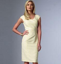 Vogue - 8972 patroon Elegante jurk in 6 variaties   Naaipatronen.nl   zelfmaakmode patroon online