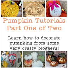 Lots of fun pumpkin projects here!