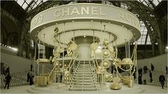 Chanel fashion show stage set.