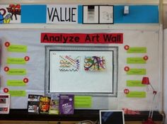 Analyzing Art Wall. I wish I had the space. Maybe, it can be condensed to a folder that students can bring back to their seat.
