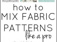 This is so much easier than I thought! Just a few easy steps to mixing patterns