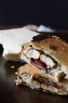 This easy to make chicken bacon spinach grilled cheese is packed full of flavor and perfect for dinner or lunch. Super cheesy and grilled to ooey gooey perfection.