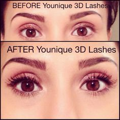 Before & After #3DLashes #mascara #youniqueproducts
