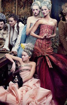 Dior: Gemma Ward, Gisele Bundchen, Lily Cole, by Annie Leibovitz