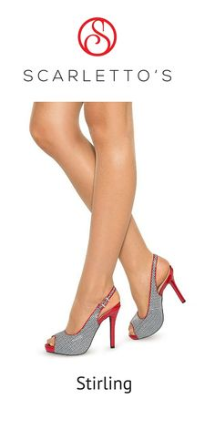 It is easy to see why the Stirling sling-back stiletto is the most popular style and biggest seller across our entire Scarletto's range, it oozes unique style! All The Right Reasons, Stirling, Retro Look, Pumps, Heels, White Patterns, Put On, Fashion Shoes, Shoe Boots