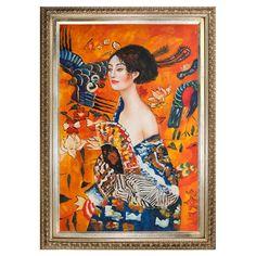 Signora con Ventaglio by Klimt Framed Reproduction at Joss & Main