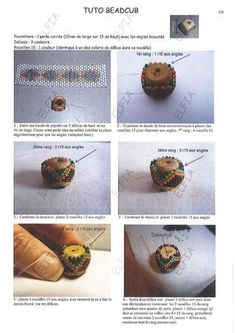 Tuto_beadcub_1. Square bead tutorial. Several pages