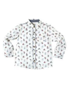 Zane Zebra Shirt | White | Monsoon