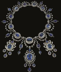 Sapphire and Diamond Demi Parure by Mellerio dits Meller!