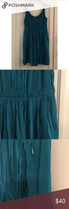 Blue green Madewell dress Beautiful Madewell dress! In great condition. Size 6. Madewell Dresses Midi
