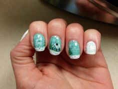 This is my Day 4 of the 12 days nail challenge. It is 'Christmas where you live'. Well I live in Indiana and right now there i...