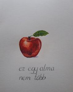 Akvarell kép Apple, Fruit, Painting, Food, Apple Fruit, Painting Art, Essen, Paintings, Meals
