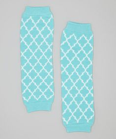 Another great find on #zulily! Light Blue Quatrefoil Leg Warmers by Tutu AND Lulu #zulilyfinds