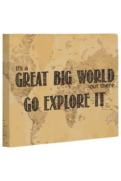 Great Big World Map Wall Decor by Whimsical Art, Totes & Pillows on @HauteLook
