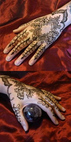 Round 4: Persian This was such a blast to design and do! Took inspiration from many places to make this persian styled piece for me friend. I love it & hope you will to! Vote for me- Scarlet Bee Henna by Nicole DiMucci Potts <3