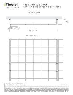 Florafelt | Guides | Wire Grid Mounting — Florafelt Vertical Garden Systems