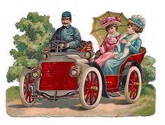 Glanzbilder - Victorian Die Cut - Victorian Scrap - Tube Victorienne - Glansbilleder - Plaatjes : Kutschen, Schlitten, Fahrzeuge - Carriages carriage vehicles - Chariots véhicules de transport
