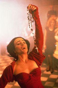 John's Horror Corner: Fright Night 2 a stylish sequel to our favorite vampire movie. Female Vampire, Vampire Girls, The Omen, Suzanne Somers, Horror Icons, Horror Films, Val Kilmer, Tommy Lee, Robert Redford