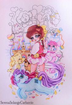 Sandy dai mille colori (Maho no Idol Pastel Yumi) - Gli orsetti del cuore (Care Bears) - Popples  - Vola mio mini pony (My Little Pony) di Serena Solange Carluccio #Sandydaimillecolori # #CareBears# #MyLittlePony#
