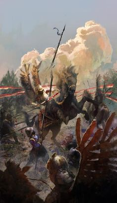 hussari by aleksander rostov Spectrum The Best in Contemporary Fantastic Art Military Art, Military History, Illustration, Historical Art, Wow Art, Fantasy Warrior, Knights Templar, Medieval Fantasy, Fantastic Art