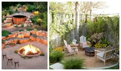 Garden firepit inspirations. Ognisko w ogrodzie - Green Design inspiracje. Fire, Patio, Outdoor Decor, Green, Inspiration, Low Carb, Design, Home Decor, Prehistory
