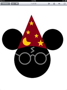 Mickey inspired Harry Potter for our recent trip to WDW and Universal Studios (wizarding world of Harry Potter)