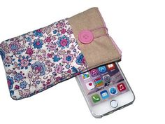 Check out this item in my Etsy shop https://www.etsy.com/listing/241209797/fabric-iphone-6-case-iphone-5s-sleeve