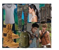 Be in Maze with Minho and Newt- movie The Maze runner by slytheriner on Polyvore featuring Pieces, Timberland, The North Face and lululemon