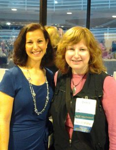 With my business coach, Lisa Montanaro at the NAPO 2013 conference.