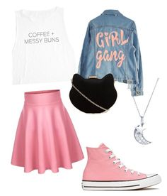 """""""Casual Cosplay: Sailor Mini Moon"""" by rikuknight ❤ liked on Polyvore featuring High Heels Suicide, New Look, Converse and BERRICLE"""