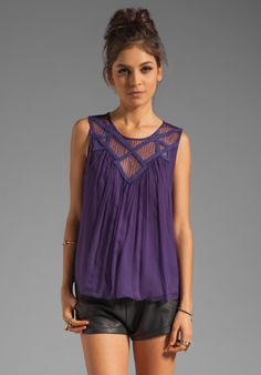 BEYOND VINTAGE Lace Tank in Purple at Revolve Clothing - Free Shipping!