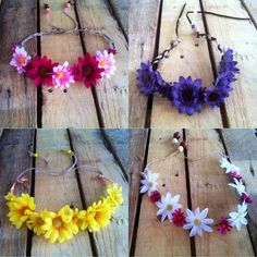 Hippy headbands flower headbands flower crowns by ThePalletGypsy