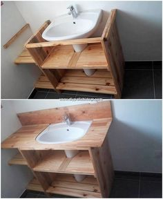 diy bathroom Incredible DIY Projects with Reused Wood Pallets