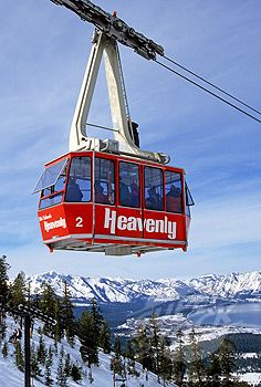 Go on a wonderful ski trip to Heavenly Valley Ski Resort, Lake Tahoe, Nevada...an awesome place! Ok, I admit my shushing ability is very limited currently, but I know I can handle a bunny slope or 2 and sip a hot spiced wine at the lodge midway on the mountain! :)